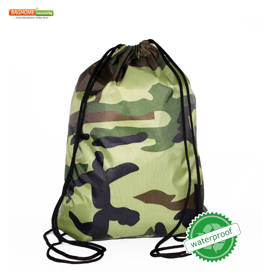 100pcs/Lots SchoolBag Camo Drawstring Backpack For Teenage Men Waterproof Drawstring Bag Packing Cubes Large Capacity Mochila