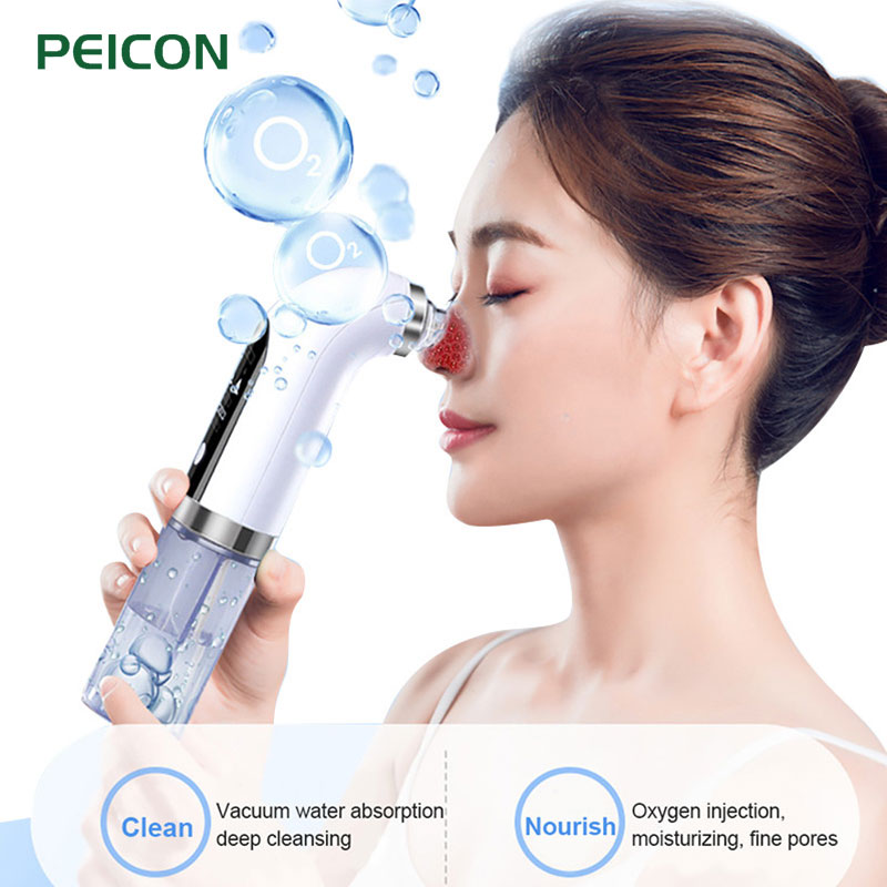 Electric Small Bubble Blackhead Remover USB Rechargeable Water Cycle Pore Acne Pimple Removal Vacuum Suction Facial