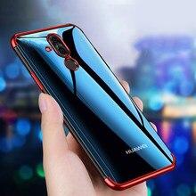Huawei mate 20 lite caso capa transparente chapeamento tpu silicone macio volta capa para huawei companheiro 20 lite 10lite casos telefone coque