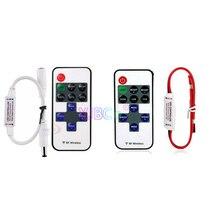 11 кнопками одноцветный светодиодный диммер постоянного тока 5 В, 12 В, 24 В постоянного тока, 12A мини-затемнение регулятор линейного светильника для 5050 3528 3014 2835 Светодиодный светильник лента