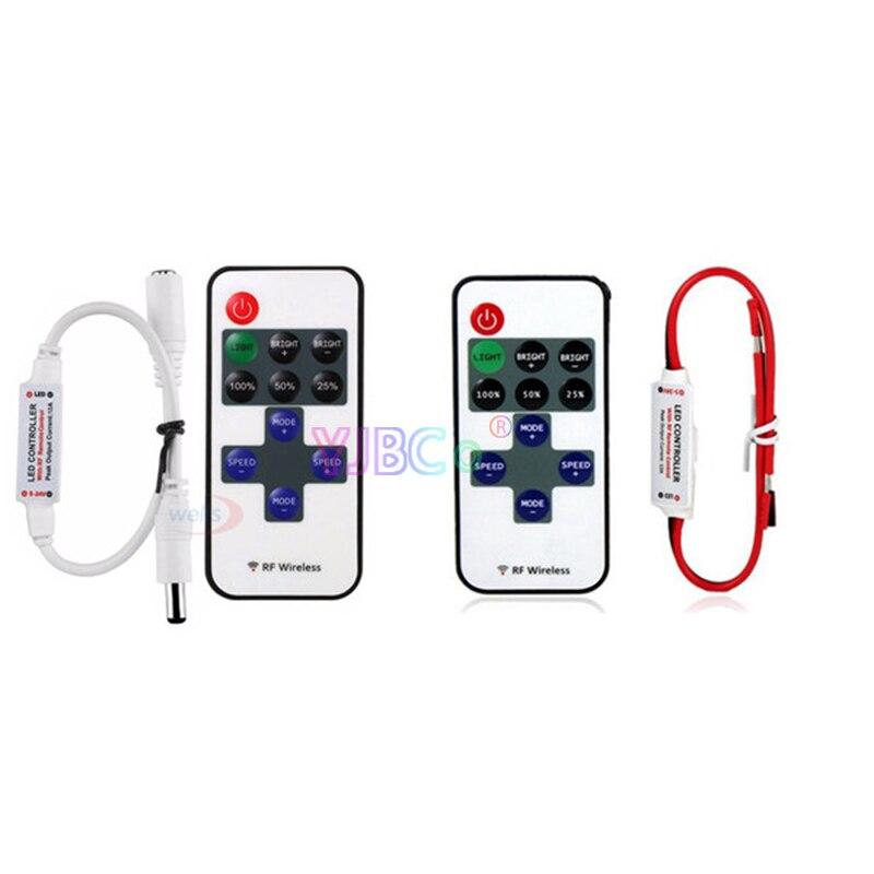 11keys Single Color Led Dimmer DC 5V 12V 24V 12A Mini Dimming Strip Light Controller For 5050 3528 3014 2835 LED Lamp Tape