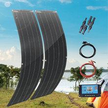 12v 24v flexble Панели солнечные комплект 100 Вт 2 шт 50w 16v