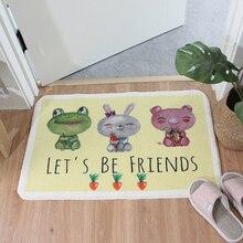 만화 재미 있은 동물 털 복 숭이 Doormat Anti skid 라텍스 바닥 욕실 목욕 매트 주방 러그 카펫 실내 입구 층 매트