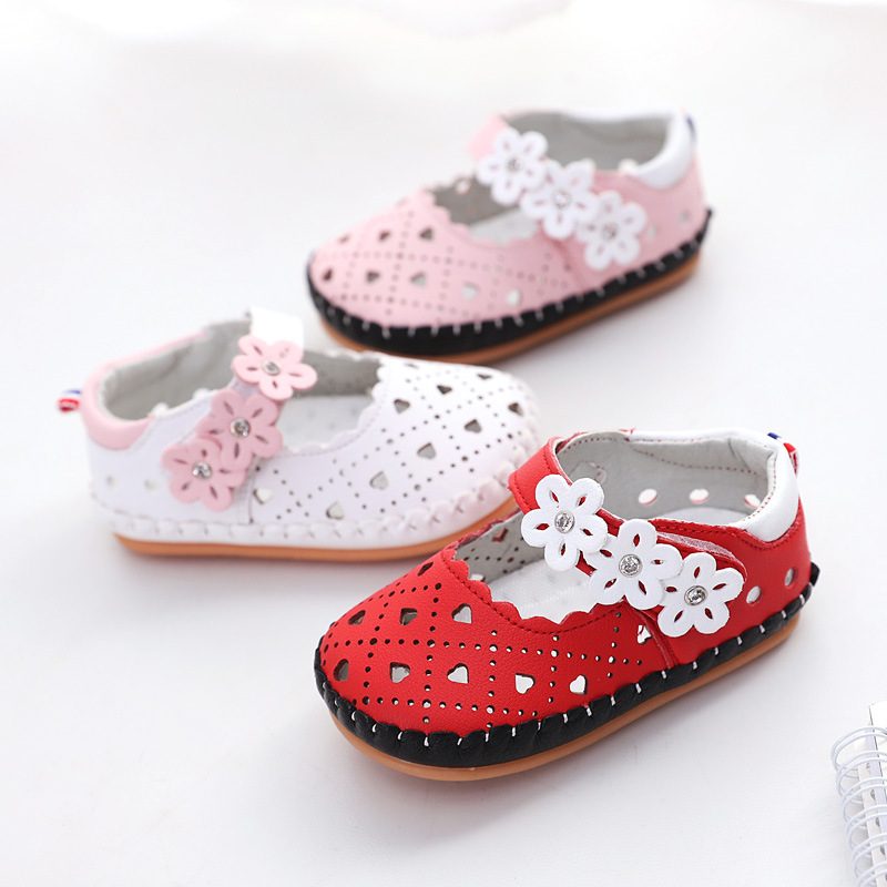 Summer Baby Sandals Shoes Kids Girls Hollow Soft Sandals 0-1 Year Old Children Girl Toddler Shoes With Flower Baby Princess Shoe