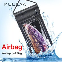 KUULAA Waterproof Phone Case Sealed Clear Bag For Xiaomi iPhone Huawei