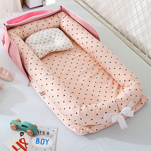 New 85*45cm Portable Baby Nest Bed for Boys Girls Travel Bed Infant Cotton Cradle Crib Baby Bassinet Newborn Bed