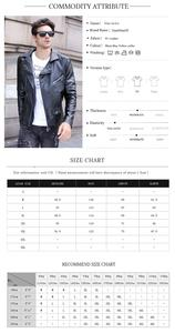 Image 2 - GustOmerD Brand 2019 Autumn Winter Casual Zipper PU Leather Jacket Motorcycle Leather Jacket Men Slim Fit Mens Jackets And Coats