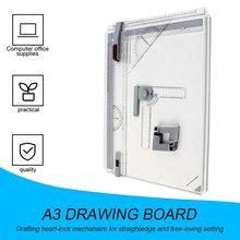 Портативная А3 доска для рисования Черновая доска для рисования с параллельными линейками Угловые зажимы головка-замок регулируемый угол художественные инструменты для рисования
