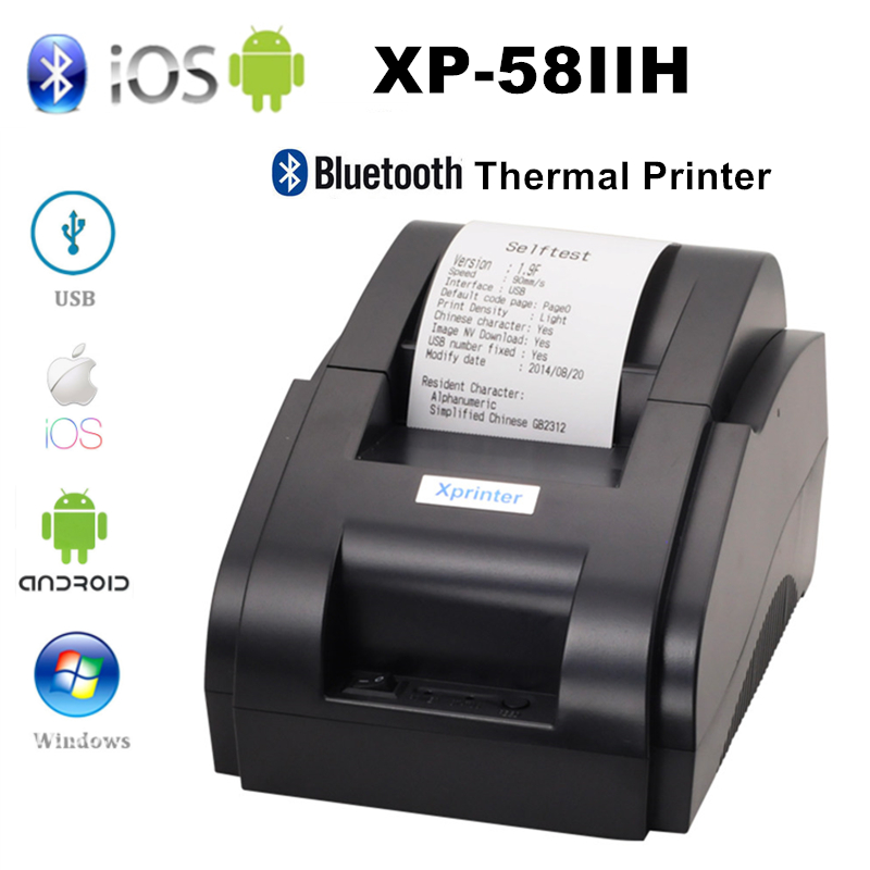 Xprinter 58mm Mobile Phone Bluetooth Bill Receipt Printer Thermal Wireless Pos Printer For iOS Android Pc USB Port For Store|Printers| |  - title=