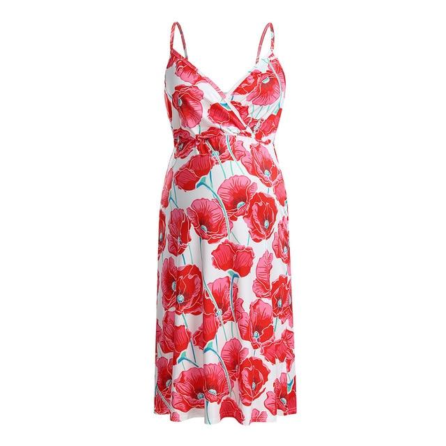 Long Maternity Floral Dresses for Women 4
