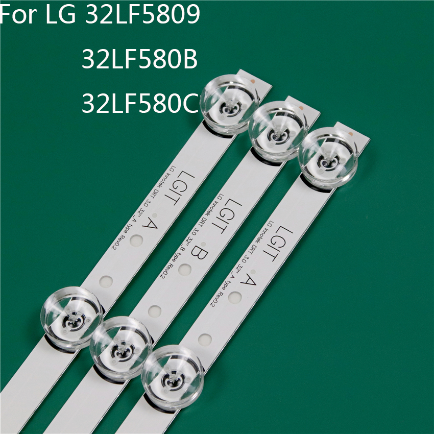 LED TV Illumination Part Replacement For LG 32LF580B-UA 32LF5809-ZA 32LF580C-ZA LED Bar Backlight Strip Line Ruler DRT3.0 32 A B