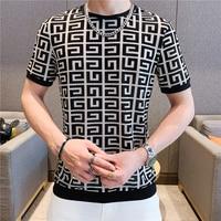 Camiseta informal de manga corta para hombre, camisa de secado rápido con cuello redondo de seda de hielo, ropa de verano, 2021