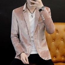 Мужской вельветовый пиджак с отложным воротником деловой Повседневный