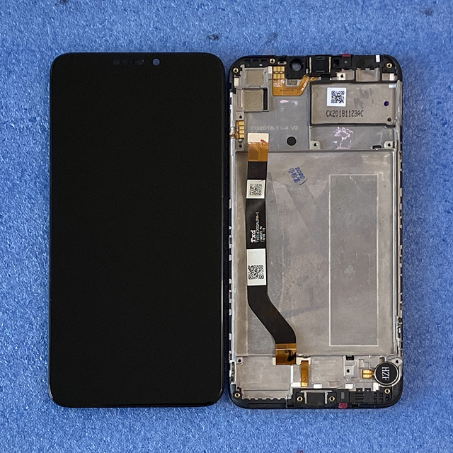 Axisinternational 6.26 بوصة أصلي لـ ASUS ZenFone Max M2 ZB633KL X01AD شاشة عرض LCD + لوحة لمس محول رقمي بإطار شاشة Lcd