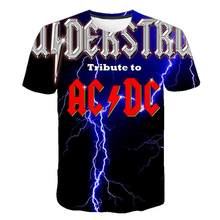 New Fashion Men's ACDC Rock Band T Shirt Men ac dc Men's 3D T-shirt Summer 3D Print Ac/dc T-shirts Tshirt for Men Women(China)
