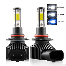 2Pcs 360 Degree LED 14000LM H7 H11 LED Bulb H1 H4 H8 H9 9005 HB3 9006 HB4 Auto Car Headlight Bulb 6000K Fog Light 12V 6000K