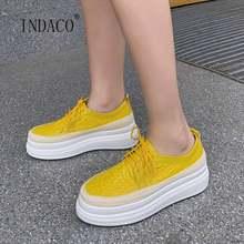 Женские Дизайнерские кроссовки толстая подошва кожаные на платформе