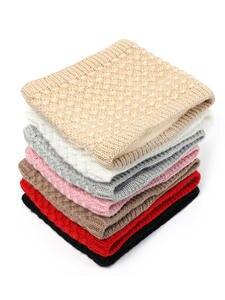 Ring Scarves Neck-Scarf Collar Thick-Warmer Winter Snood Knit Fleece Inside Women Children