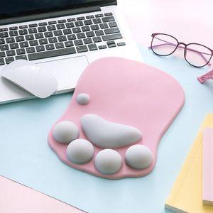 Image 4 - Wysokiej jakości słodki kociak łapa podkładka pod mysz antypoślizgowa podkładka pod mysz silikonowa komputer stancjonarny podkładka pod nadgarstek