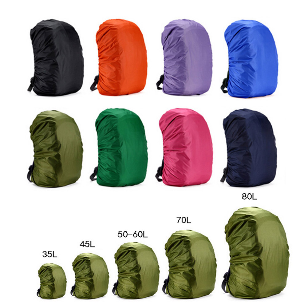 Rain Cover Backpack 45L 80L Waterproof Bag Camo Tactical Outdoor Camping Hiking Climbing Dust Raincover