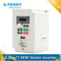 Free Shipping! 220v 1.5kw VFD Variable Frequency Drive 2.2kw vector Inverter Motor Speed Control 0 1000Hz Frequency Converter