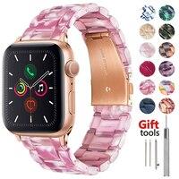 Harz Armband für apple watch 5 band 44mm iwatch 42mm serie 6 4 3 2 1 strap handgelenk zubehör Schleife 40mm armband Ersatz