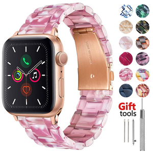 Resin Watchband for apple watch 5 band 44mm iwatch 42mm Series 6 4 3 2 1 strap Wrist Accessories loop 40mm bracelet Replacement