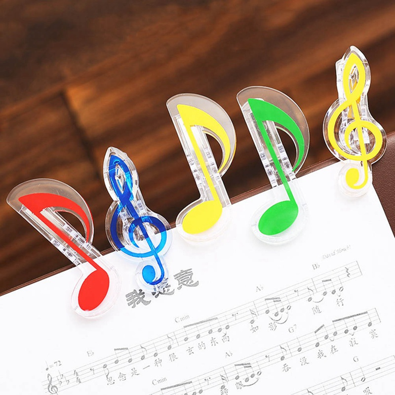 Novelty Musical Note Clips Book Page Clips Kawaii Stationery Folder Clip Photos Tickets Notes Letter Paper Clip