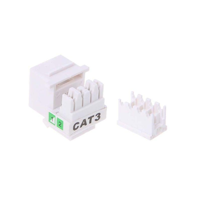 5Pcs Tool-free Telephone Module RJ11 Network CAT3 Voice Module Gold-plated Adapter Telephone Extender Keystone