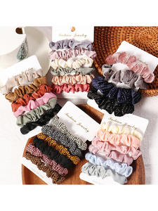 Girls Hairbands Rope Hair-Accessories Scrunchies Ponytail Gifts Candy-Color Autumn 1set