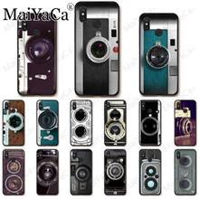 classic retro Black silver vintage camera Design Soft Shell Phone Case For redmi 5A 7 7a 8 note5 note7 note8pro note6pro Cover(China)