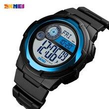SKMEI zegarek męski wodoodporny zegarek Cyfrowy zegarek kompas kalorii mężczyzn bransoletki z zegarkiem męskie stoper zegar człowiek zegarki