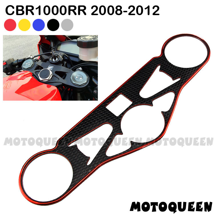Motorcycle Decal Pad Triple Tree Top Clamp Upper Front End for <font><b>Honda</b></font> CBR1000RR <font><b>CBR</b></font> 1000RR <font><b>CBR</b></font> <font><b>1000</b></font> <font><b>RR</b></font> <font><b>2008</b></font> 2009 2010 2011 2012 image
