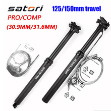 Bike-Seatpost Adjustable Satori Remote-Air-Seat Height Travel Post-440/460mm External/internal