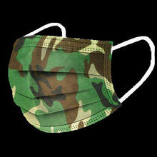 Mascarilla desechable con estampado de camuflaje para adultos, 3 capas, filtros de respiración, 20/50 Uds.