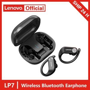 Image 1 - Lenovo LP7 TWS auricolare Bluetooth senza fili riduzione Noide suono HIFI cuffie Stereo di qualità dei bassi IPX5 impermeabile con microfono