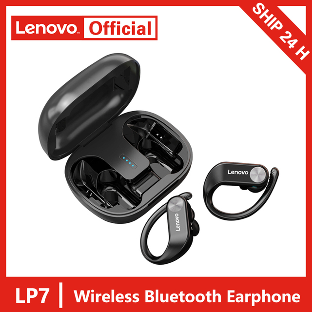 Lenovo LP7 TWS auricolare Bluetooth senza fili riduzione Noide suono HIFI cuffie Stereo di qualità dei bassi IPX5 impermeabile con microfono