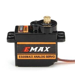 Image 4 - 10PCS EMAX ES08MA II 12 เกียร์มินิอะนาล็อกServoสำหรับRCมอเตอร์เปลี่ยนกันกระแทกและstable RC Servomotor