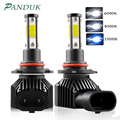 PANDUK 2 шт. 360 градусов светодиодный 14000LM H7 H11 светодиодный лампы H1 H4 H8 H9 9005 HB3 9006 HB4 Авто головной светильник 6000 К туман светильник 12V 6000K
