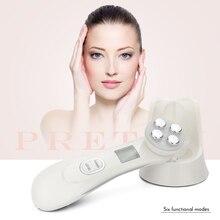 Pelle del viso EMS mesoterapia elettroporazione RF radiofrequenza facciale LED fotone dispositivo di cura della pelle lifting del viso stringere la macchina di bellezza