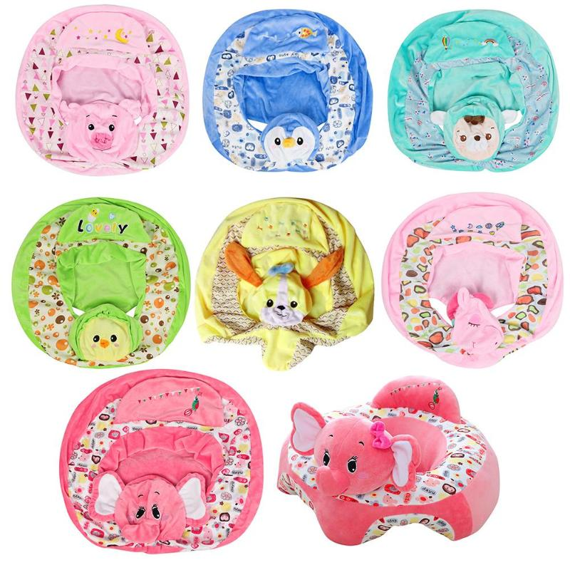 Baby Sofa Cover Floral Print Safety Seat Support Learn To Sit Chair Case