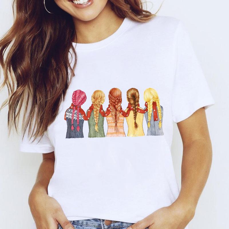 Women Graphic Travel Vacation Sweet Fashion Trend Cute Printing Cartoon Lady Clothes Tops Tees Print Female Tshirt T Shirt