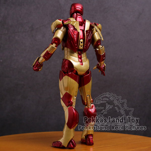 Image 3 - アイアンマンマークmk 42ゴールドアイアンマンpvcアクションフィギュアコレクタブルモデル玩具