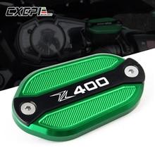 For KAWASAKI Z400 Z 400 2019 LOGO Z400 Motorcycle CNC Front & Rear brake Fluid Cilinder Master Reservoir Cover Cap цена в Москве и Питере