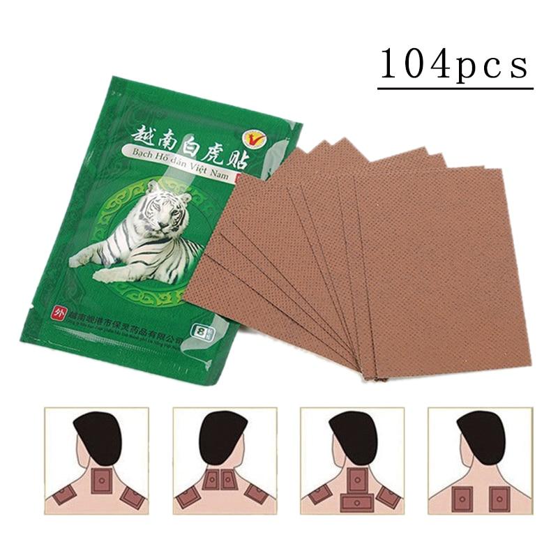 104pcs/13bags Vietnam Creams White Tiger Active Meridians Paste Rheumatoid Arthritis Lumbar Cervical Spondylosis Plaster