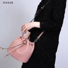 ZOOLER BUCKET bags handbags type women famous brands 2017 European style ladies Genuine leather Bags tote Bolsas  #2113