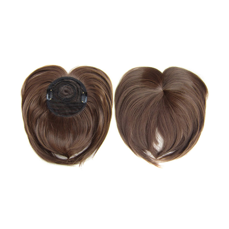 Clip-on Hair Topper Heat Resistant Fiber Hair Extension Hairpiece For Women LDO99