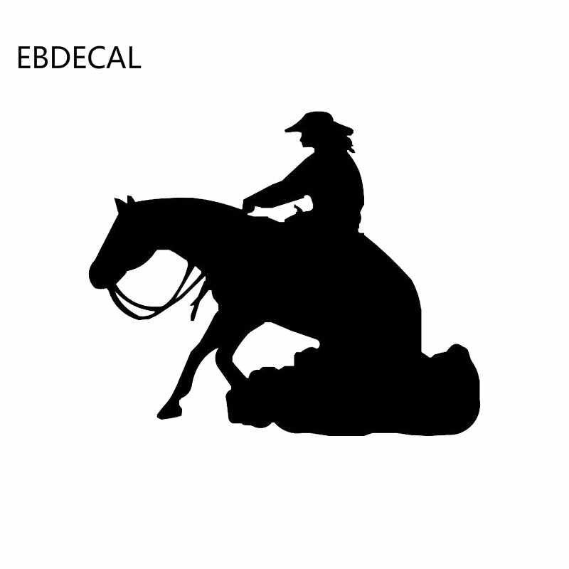 Atlı spor dekor komik Sticker çıkartması yansıtıcı lazer motosiklet araba Styling vinil çıkartmalar EBDECAL CT30269