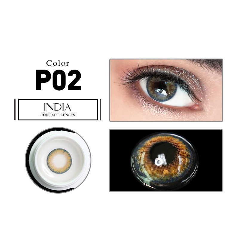 LAREEN 2 szt. Kolorowe soczewki kontaktowe seria PRO Eye naturalne soczewki kontaktowe kolorowe soczewki kontaktowe do oczu lentes de contacto