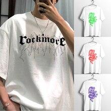 Harajuku camiseta feminina do vintage dragão chinês impressão de manga curta ulzzang verão borboleta gráfico streetwear unisex topos t